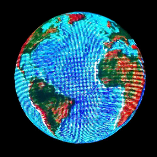 LED Video Sphere with an image of the Earth