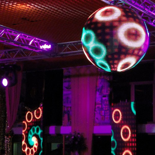 LED Video Sphere Used in a Set