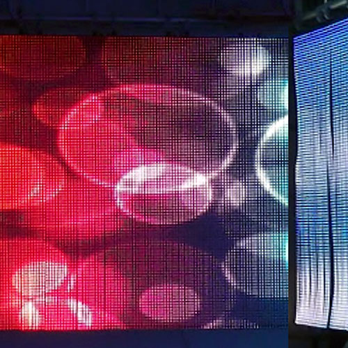 Flexible Soft Curtain LED in Use