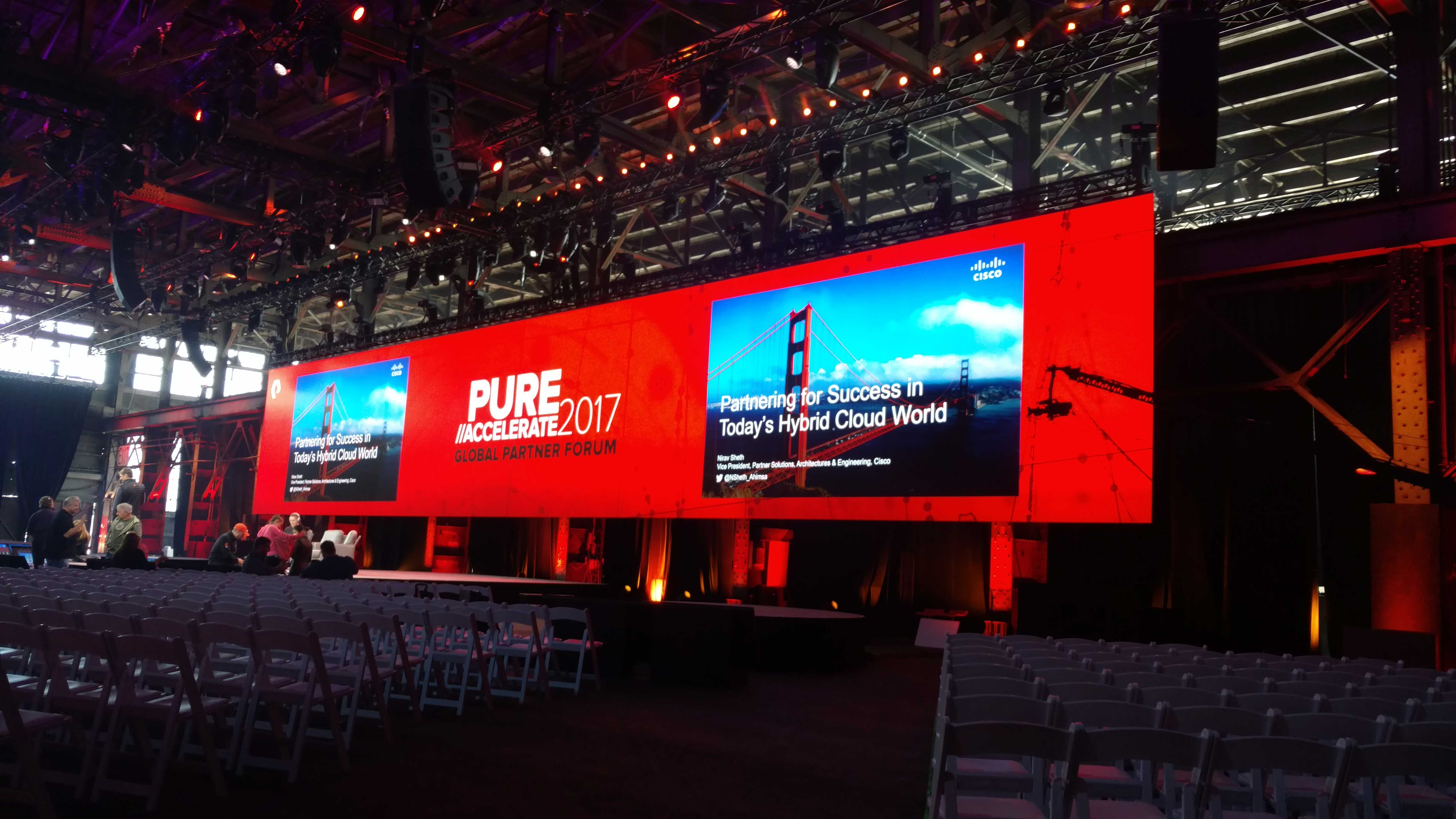 Wide Interior High-Resolution LED Screen for the Pure Accelerate 2017 Global Partner Forum