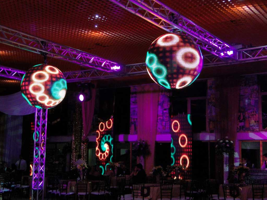 LED Video Spheres for Scenic Use
